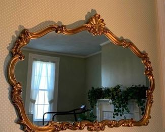 Vintage Hollywood Regency Gold Mirror