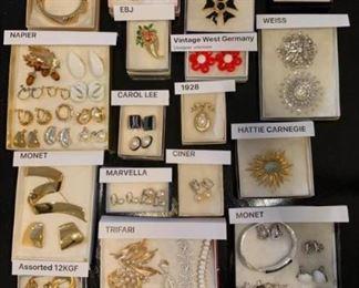 Vintage Signed Designer Costume Jewelry