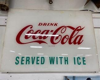 1950s Coca Cola Fountain Sign