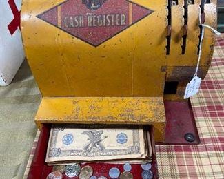 1930s Buddy L metal cash register