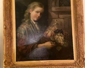 1870s English oil painting