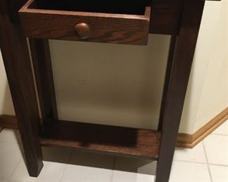 "cute entryway table with shelf $45 24""w x 12""d x 30""h"