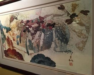"Watercolor/ ink Koi painting 42""x 26"" $275"