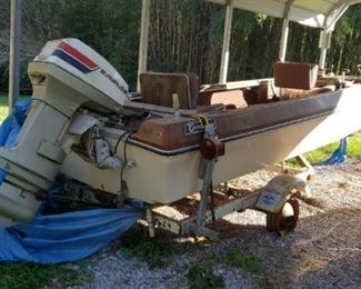 Evinrude terry Bass Boat with Trailer