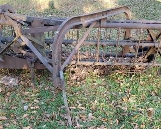 Large Cast Iron Antique Hay Rake