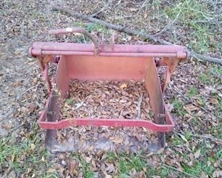Red 2 foot steel loading bucket