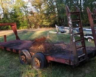 Large Steel 20ft Gooseneck Trailer w Ramps