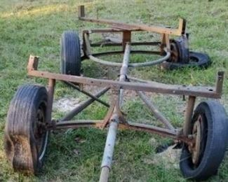 Antique Steel Trailer Frame ?? AS IS