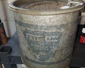 Vintage Fall City minnow bucket