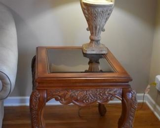 Beautiful End Table and Lamp part of a pair