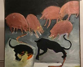 """""""Pigs & Panthers"""" AKA """"Animal Fight."""""""