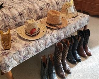 men's boots and cowboy hats