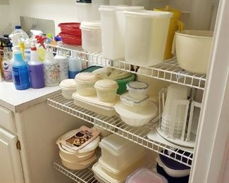 tupperware and plasticware
