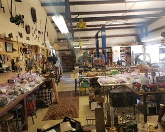 tons of tools and treasures in the shop