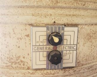 General Electric 1930's refrigerator. We have our drinks cooling in it!