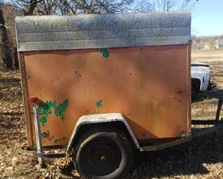 old UHAUL trailer