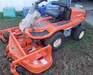 Kubota mower with new deck