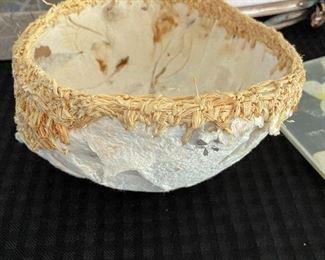 """Paper mache bowl. 6.5""""D x 3.5""""H BUY IT NOW $20"""