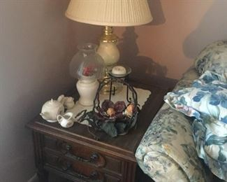 . . . a nice end table with ceramic lamp