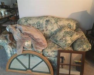 . . . a floral love seat (green tones)