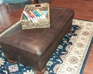 Leather Ottoman by Ashley Furniture - Coffee Color