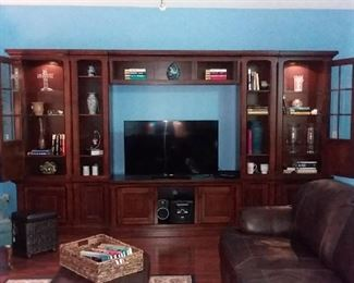 Lighted 5 Piece Wall Entertainment Unit  By Ashley Furniture
