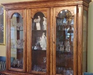 Some items in china cabinet are NOT for sale