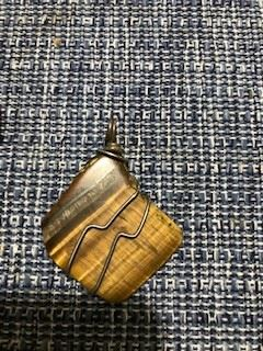 Wrapped Tiger Eye Pendant