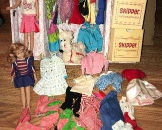 VINTAGE SKIPPER DOLLS & CLOTHES