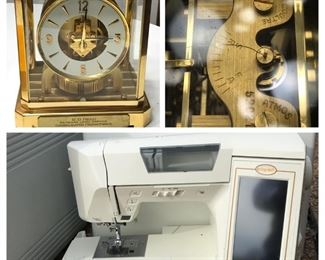 Jaeger Lecoultre Clock & Baby Lock Ellageo Sewing Machine