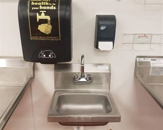 Stainless hand sink