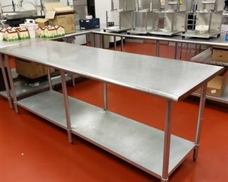 96x30 stainless table