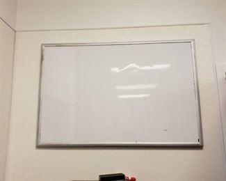 whiteboard and bulletin board