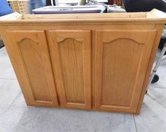 "3 door Kitchen wall cabinet 31 3/4"" H X 43"" W X 13 1/2"" D"