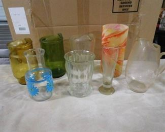 lot of 4 pitchers and other decorative vases