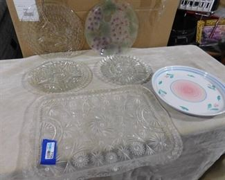 6 nice serving platters