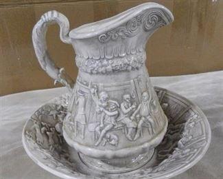 Beautiful pitcher & water bowl