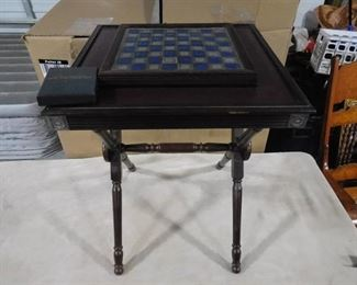 The national historical society Civil War Chess Set- table has built-in chessboard with chess pieces (Unique and one of a kind!) Has Certificate of authenticity!!!