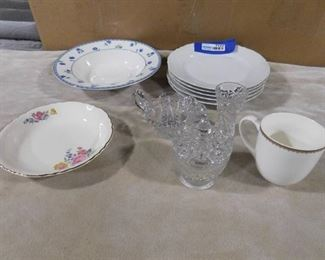 11 piece misc. glassware