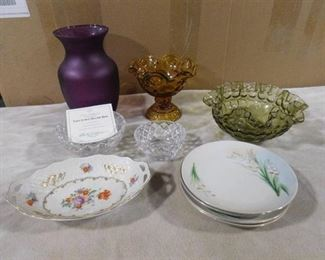 set of assorted decorative vases, plates and bowls