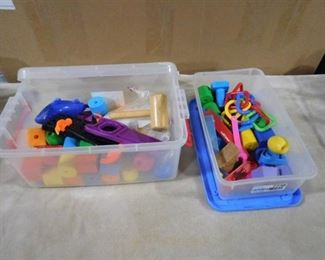 lot of sensory toys (great for young children or people with Autism)