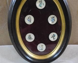 1971-1976 mini Hummel plates in frame