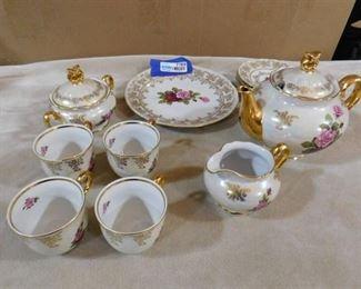 Czech Republic Atelier Karlsbad original tea set-11 piece set(one cup has chip-see pics)
