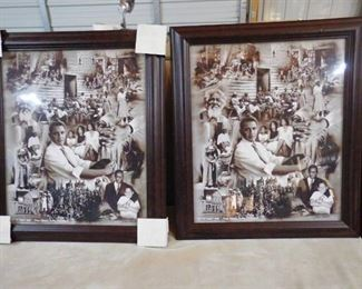 """2- """"Out of many one""""- from slavey to the presidency by Wishum Gregory  28 1/2in H X 24 1/2in W (one frame has nick-see pics)"""