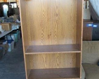 """Wooden Shelf w/ lower sliding storage doors 24"""" W x 73"""" H x 10"""" D"""