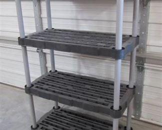 """Rubbermaid 4 tier shelf 36"""" W x 55"""" H x 18"""" D"""