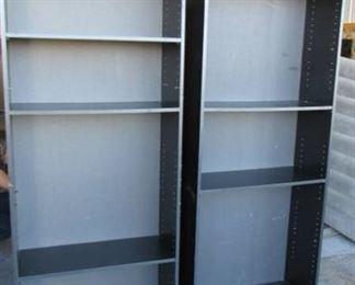 "2 Black Bookshelves w/ adjustable shelves 30"" W x 72"" H x 12"""