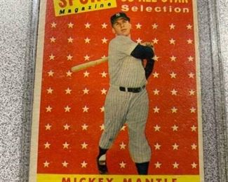 1958 Topps Mickey Mantle All Star #487