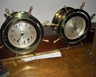 Chelsea Ships Bell Clock & Barometer set