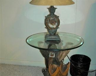 Western styled lamp table